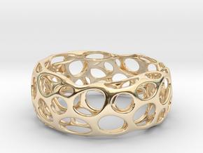 Convex Bracelet  in 14K Yellow Gold