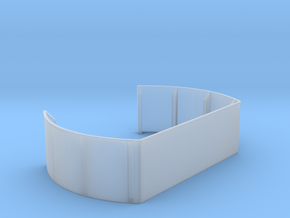 1/125 40mm Twin Midships Tub in Smooth Fine Detail Plastic