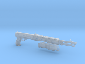 SPAS 12 1:4 scale shotgun with moveable pump in Smooth Fine Detail Plastic