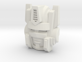 Optimal Optimus Face (Titans Return) in White Natural Versatile Plastic