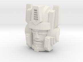 Optimal Megatron Face (Titans Return) in White Natural Versatile Plastic