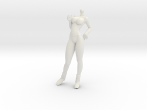 1/24 Race Queen Body Cheering Standing Pose in White Natural Versatile Plastic
