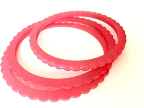 Ingranaggi Bangle - 4mm Thick in Red Strong & Flexible Polished