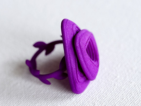 Rose Ring in Purple Processed Versatile Plastic