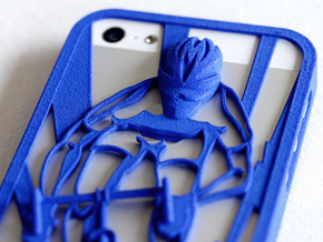 Muscular Cyclist iPhone 5/5s Case in Blue Processed Versatile Plastic