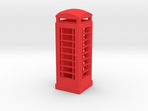 EP726 K6 Phone Box  in Red Processed Versatile Plastic