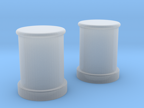 1/96 Bismarck Germany Bollards in Smooth Fine Detail Plastic