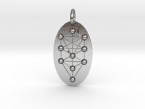 Tree of Life Medallion in Natural Silver