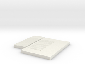 Corrugated Mold- Small in White Natural Versatile Plastic