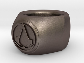 Assasin Ring in Polished Bronzed Silver Steel