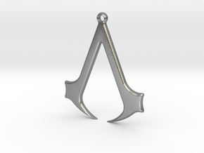 Pendant Assasin  in Natural Silver