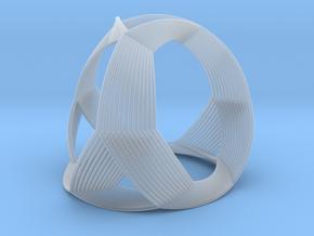 0408 Spherical Truncated Tetrahedron (d=12cm) #005 in Smooth Fine Detail Plastic