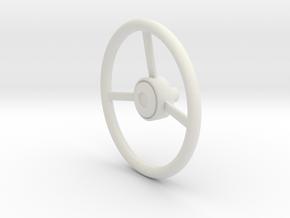 1:10 XJ Cherokee Steering Wheel in White Natural Versatile Plastic
