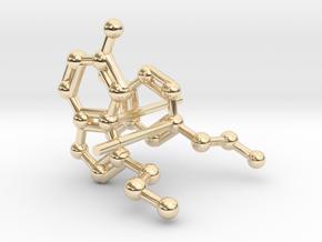 Serotonin & Dopamine Earrings in 14K Yellow Gold