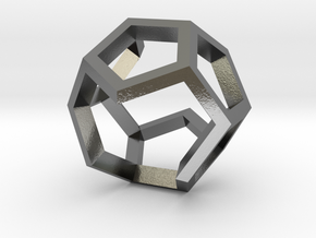 dodecahedron ring  geommatrix  in Polished Silver