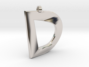 Distorted Letter D in Platinum