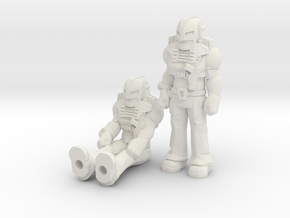 Cliff Dagger 2-pack, 35mm Minis in White Natural Versatile Plastic