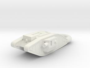 Mark 4 Male Heavy Tank KEYCHAIN in White Natural Versatile Plastic