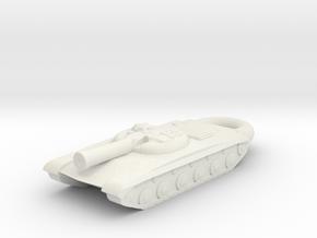 Obyekt 775 Gun-Missile Tank KEYCHAIN in White Natural Versatile Plastic