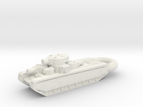 T-35 Heavy 5-Turret Tank KEYCHAIN in White Natural Versatile Plastic