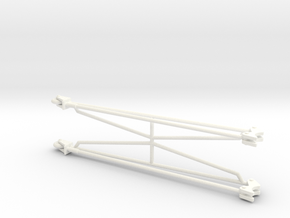 Wheelie Bars 1/8 in White Strong & Flexible Polished