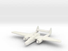 Northrop P-61 'Black Widow' (with turret) in White Strong & Flexible: 1:200
