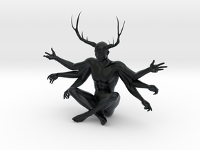 38mm Six Armed Stag in Black Hi-Def Acrylate