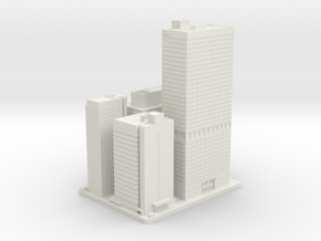Four, Five, Seven and Eight Penn Center (1:2000) in White Natural Versatile Plastic