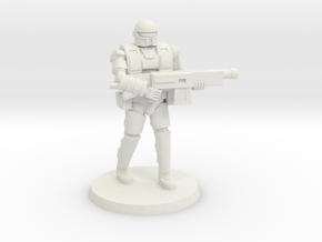 36mm Heavy Armor Trooper 1 in White Natural Versatile Plastic