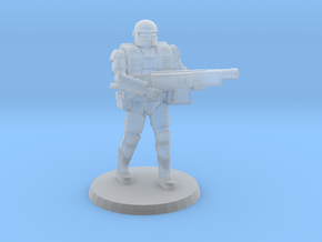 36mm Heavy Armor Trooper 1 in Smooth Fine Detail Plastic