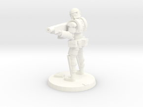 36mm Heavy Armor Trooper 2 in White Processed Versatile Plastic
