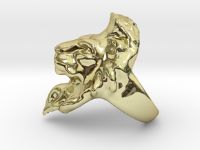 Lion Ring 20.68mm (size 11) in 18k Gold Plated Brass