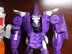 Transforming Neck Unit for TR Galvatron in White Strong & Flexible Polished