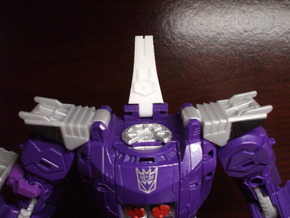 Back Spike Thruster for TR Galvatron in White Processed Versatile Plastic