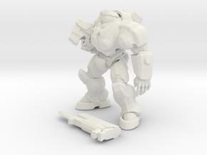 1/24 Combat Marine in Suit in White Natural Versatile Plastic