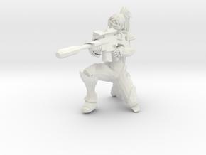 1/12 Terran Ghost Nova Nuking Pose in White Natural Versatile Plastic