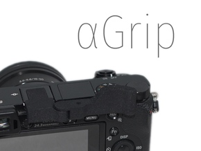 ⍺Grip (Grip for Sony A6000) in Black Natural Versatile Plastic