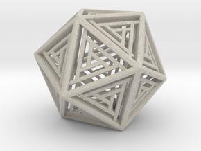 Icosahedron Lattice in Natural Sandstone