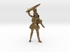 Elf Noblewoman Mini 54mm in Natural Bronze