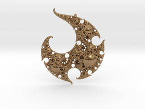 Yin Yang Infinity-Spiral Pendant in Natural Brass