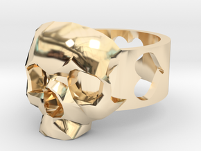 """Ring """"Heart with Skull"""" in 14K Yellow Gold"""