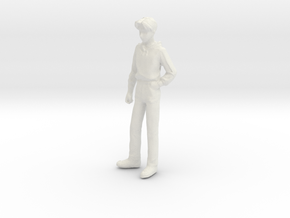 1/24 Teenager Standing in White Strong & Flexible