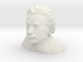 Einstein Bust Various Sizes and Materials in White Natural Versatile Plastic: Extra Small