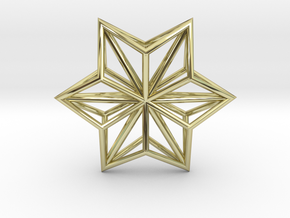 Origami STAR Structure, Pendant.  in 18k Gold
