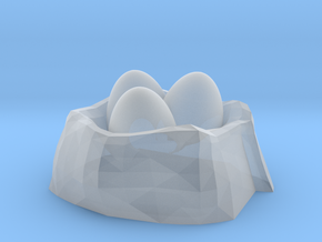Dragon Egg Nest No.2 in Smooth Fine Detail Plastic