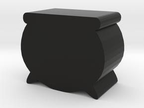 Game Piece, Cauldron in Black Natural Versatile Plastic