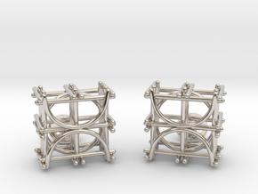 Architecture Cufflinks in Rhodium Plated Brass