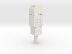 Space 1999 Comlock 1/6 Scale in White Natural Versatile Plastic