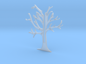 """Holder """"2d-tree-b"""" in Smooth Fine Detail Plastic"""