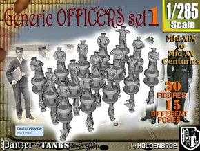 1-285 Generic Naval Officers Set 1 in Smoothest Fine Detail Plastic